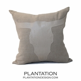 Longhorn Linen Pillows | Natural