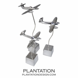 Altitude Airplane Sculptures | Set of 3