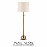 Stephen Floor Lamp | Antiqued Brass