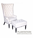 Classic Diamond-Tufted Wing Chair