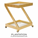 Zig Bar Cart | Gold