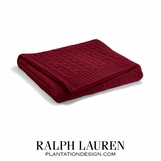 Cabled Cashmere Throw | Burgundy