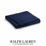 Cabled Cashmere Throw | Navy