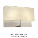 Grappa Wide Sconce   Nickel
