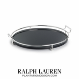 Sabrina Silver & Glass Tray