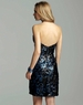 Short Electric Blue/Black Classic Clarisse Gown 2050