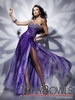 2012 Tony Bowls Purple Printed Prom Dress 112736