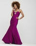 Clarisse Raspberry Beaded Halter Prom Gown 2139