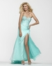 Clarisse Strapless Beaded Long Aqua Prom Gown 2145