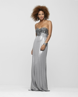 Clarisse Strapless Long Liquid Metal Gown 2169