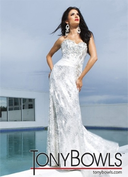 2012 Tony Bowls Sequined Prom Dress 11217
