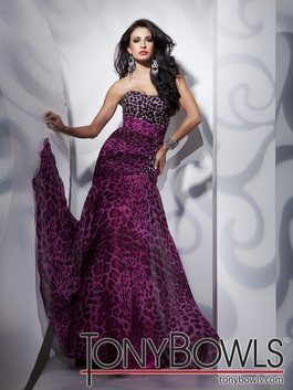 2012 Tony Bowls Animal Print Prom Dress 112700