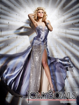 Tony Bowls Silver 2012 Prom Dress 11239