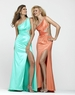 2013 Clarisse Electric Coral and Aqua Ice Metallic Long Prom Gown 2128