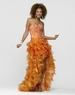 2013 Clarisse Outrageous Orange High Low Gown 2130