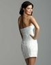 Classic Clarisse Short White Beaded Gown 2035