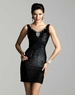 Classic Clarisse Short Liquid Black Gown 2054