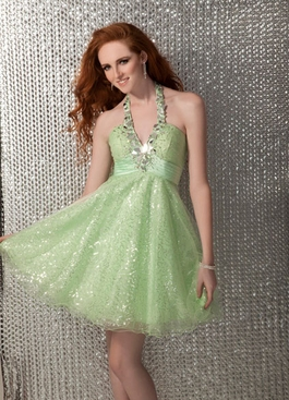 2012 Clarisse Green Apple Dress 17173