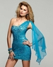 Clarisse Short Sequin Azure Gown 2025