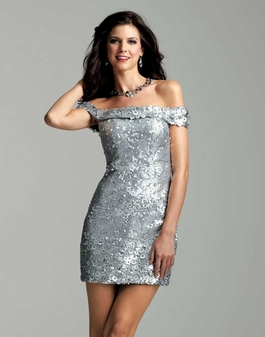 Clarisse 2039 Mercury Short Sequin Dress