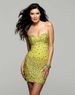 Clarisse 2041 Saffron Yellow Beaded Gown