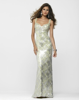 Clarisse Fitted Limeade Sequin Prom Gown 2144