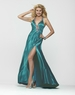Clarisse Long Beaded Halter Gown 2154