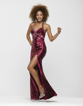 Clarisse Long Sequin Magenta Prom Gown 2142