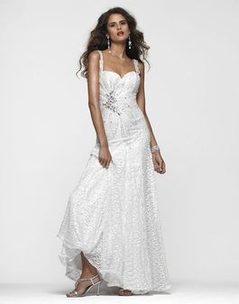 Clarisse Long White Beaded Gown 2101