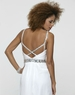 Clarisse Long White Gown 2106 with Spaghetti Straps