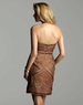 Clarisse Mocha Beaded Short Dress 2044