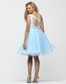 Clarisse One Shoulder Baby Blue Short Baby Doll Gown 2157