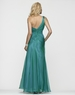Clarisse One Shoulder Iridescent Teal Prom Gown 2153