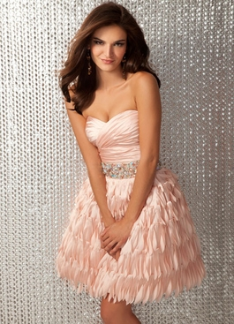 2012 Clarisse Short Blush Dress 17133
