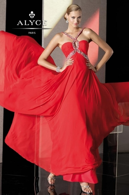 Red Halter Alyce Gown 35515
