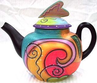 Abstract Tea Pot