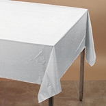 "TABLE ROLL 40""X 300"" PLASTIC WHITE"