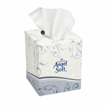 ANGEL SOFT CUBE FACIAL TISSUE 2PLY WHITE 30/96