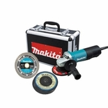 """4-1/2"""" Angle Grinder with Diamond Blade and 4 Grinding Wheels"""