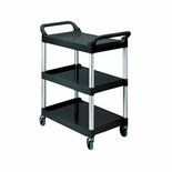 UTILITY CART 3-SHELF BLACK