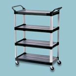 4-Shelf Utility Cart, Open All Sides