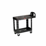 UTILITY 2 FLAT-SHELF CART 250 LB MAX PLASTIC BLACK