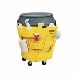 BRUTE CADDY BAG FITS 32/44 GAL ROUND CONTAINERS YELLOW