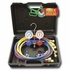 """Dual 134a / R-12 Aluminum Gauge Set with 60"""" Goodyear Hoses and Manual Couplers"""
