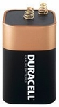 DURACELL 6 VOLT SPRING-TOP ALKALINE BATTERY