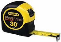 "STANLEY 1-1/4"" X 30' FAT MAX REINFORCED W/BLADE ARMOR TAPE RULE"