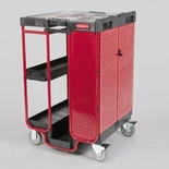 Ladder Cart with Cabinet