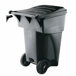 BRUTE ROLL OUT CONTAINER 95 GAL 45-5/8H GRAY