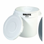 BRUTE CONTAINER 10 GAL WHITE
