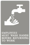 """Employees Must Wash Hands"" ADA Sign"